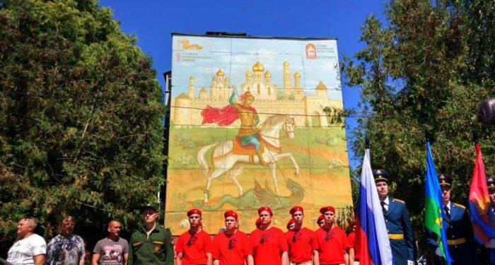 Первое в России граффити-панно с Георгием Победоносцем появилось в Тамбове