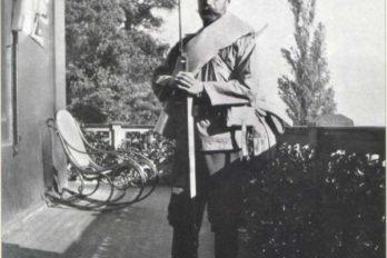 Испытание новой походной формы и нового снаряжения Государем Императором Николаем II. Крым. Октябрь 1909 г.(1)