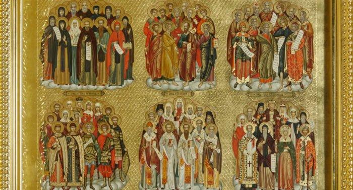 Изображают ли всех святых на одной иконе?