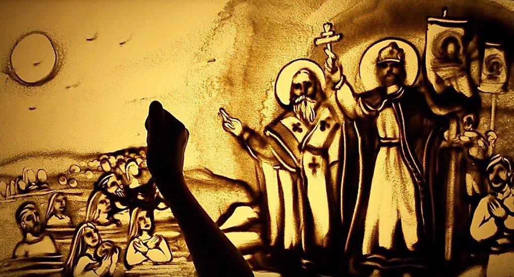 Видеооткрытку из песка к 1030-летию Крещения Руси создала художница из Крыма