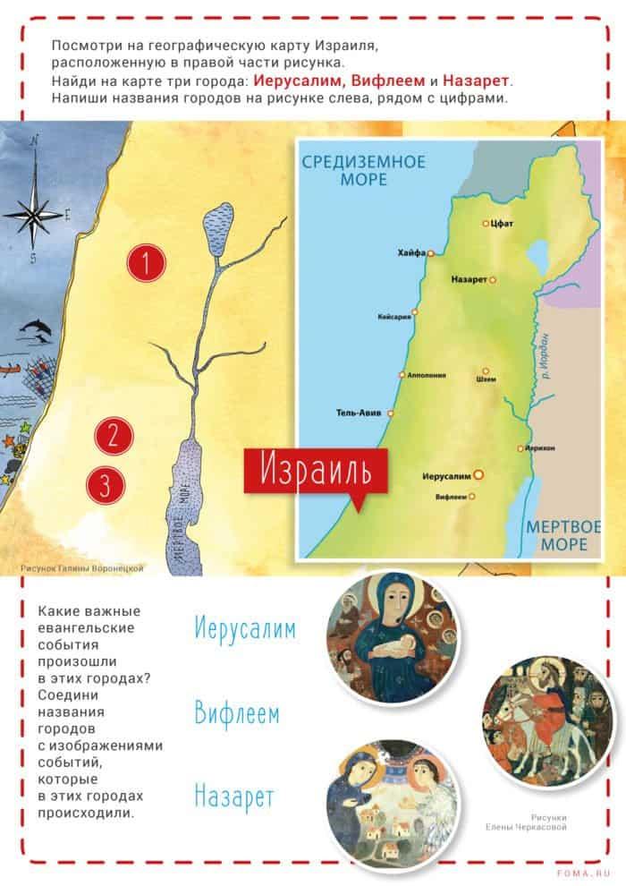 Города в Евангелии: по каким улицам ипереулкам ходил Христос