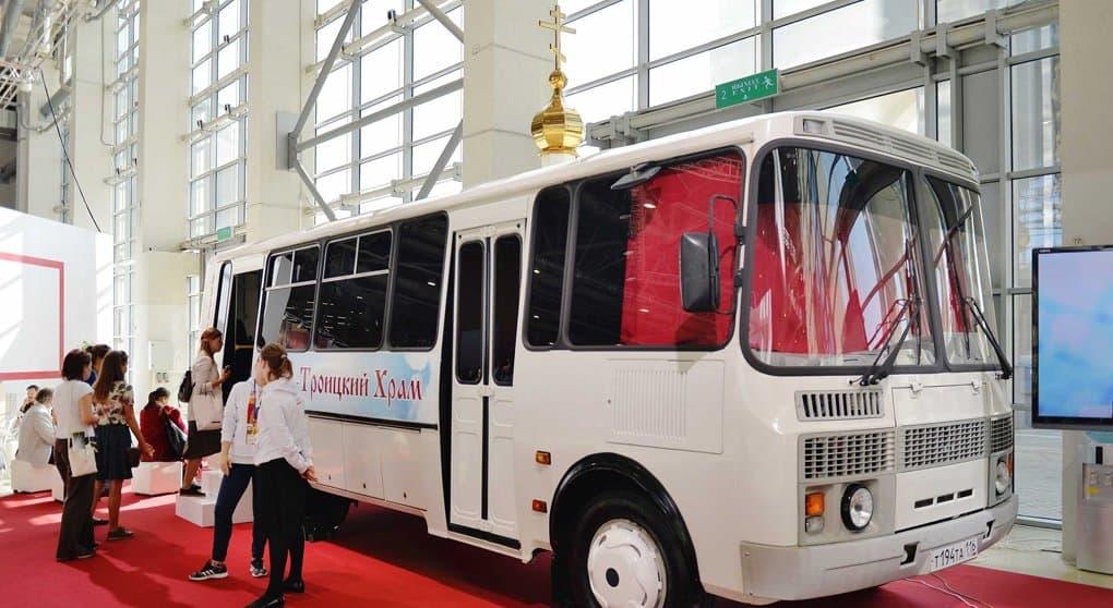 Единственный в России автобус-храм представили в Москве
