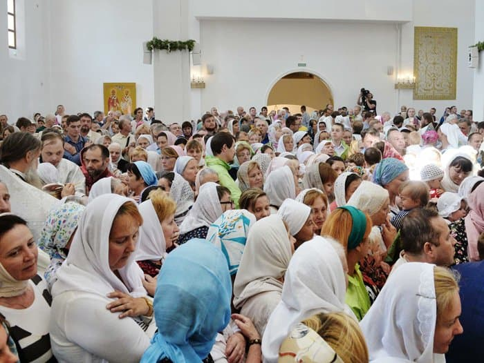Патриарх Кирилл освятил на севере Москвы храм блаженной Матроны