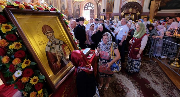 Почти 35 тысяч верующих поклонились за три дня в Краснодаре мощам Спиридона Тримифунтского