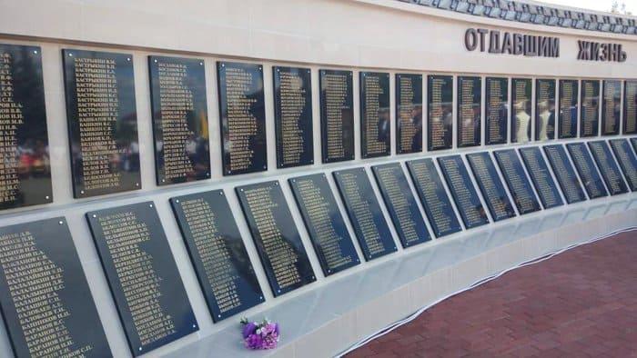 Память более 2 тысяч солдат увековечили под Тамбовом в монументе Защитнику Отечества