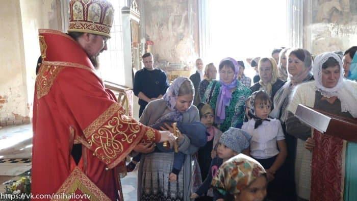Первая за 80 лет Литургия совершена в селе Чурики Рязанской области