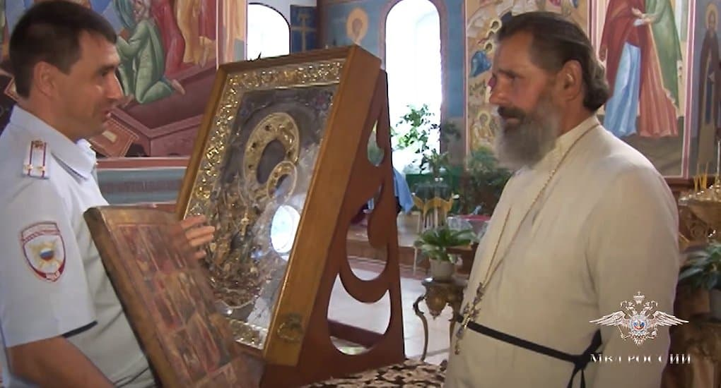 Курские полицейские спасли от продажи украденную икону XIX века