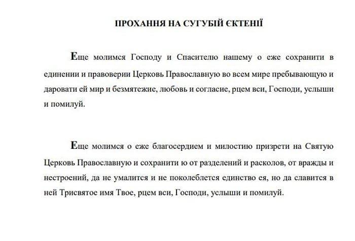 Украинская Церковь будет молиться о сохранении единства православия