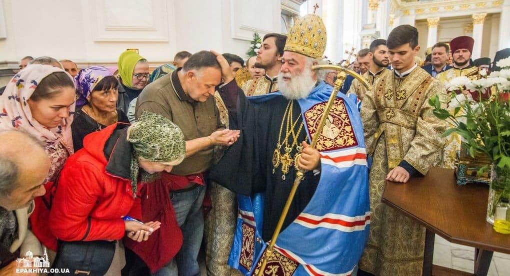 Патриарх Александрийский Феодор II призвал одесситов держаться митрополита Киевского Онуфрия