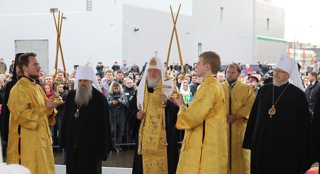 Патриарх Кирилл заложил в Норильске храм в честь покровительницы горняков - святой Варвары