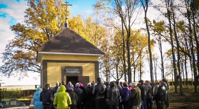 У татарского села открыли часовню на месте расстрела священника с прихожанами