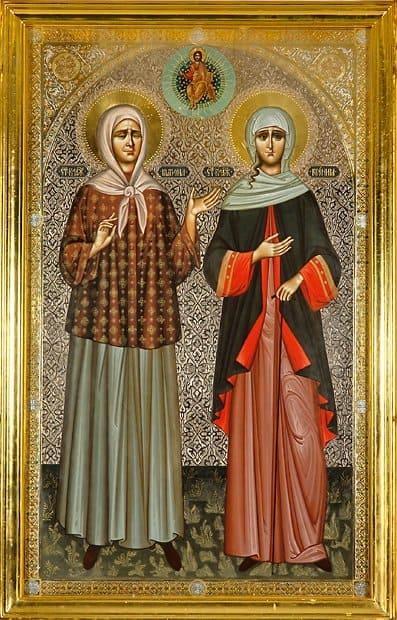 Почему на некоторых иконах изображают нескольких святых?