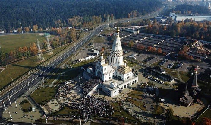 Патриарх Кирилл освятил в Минске храм-памятник Всех святых