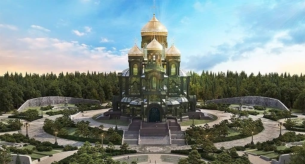 Главный военный храм России окружат галереей с именами всех участников Великой Отечественной