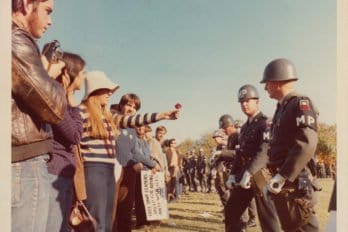 Antiwar demonstration at the Pentagon. October 21, 1967.