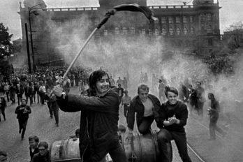 CZECHOSLOVAKIA. Prague. August 1968. Warsaw Pact tanks invade Prague.