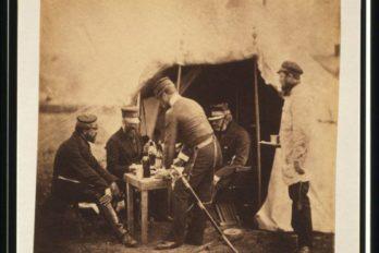 Бригадир Garrett и офицеры 46-го полка