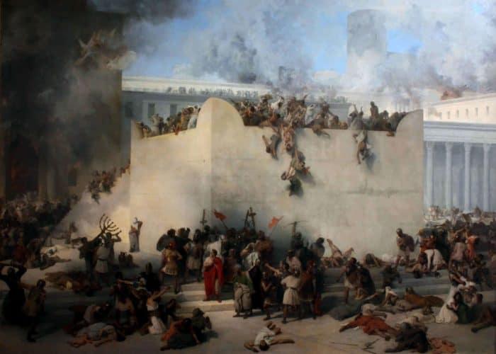 Франческо Айец. Разрушение Иерусалимского Храма. 1867