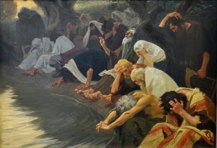 На реках Вавилонских. Gebhard Fugel. Около 1920