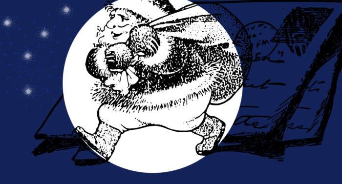 Дед Мороз в черном
