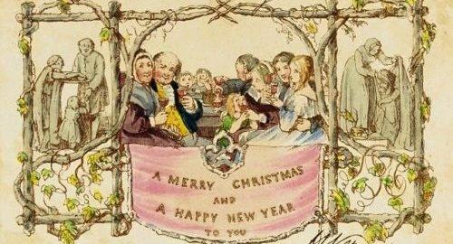 История рождественской открытки