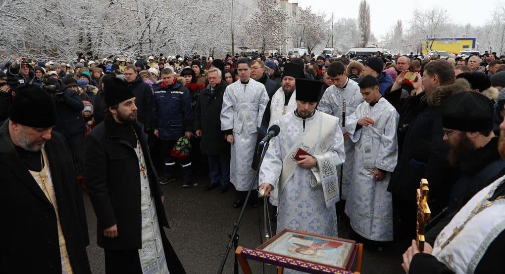Шахтинская епархия всесторонне помогает семьям погибших и пострадавшим от взрыва газа
