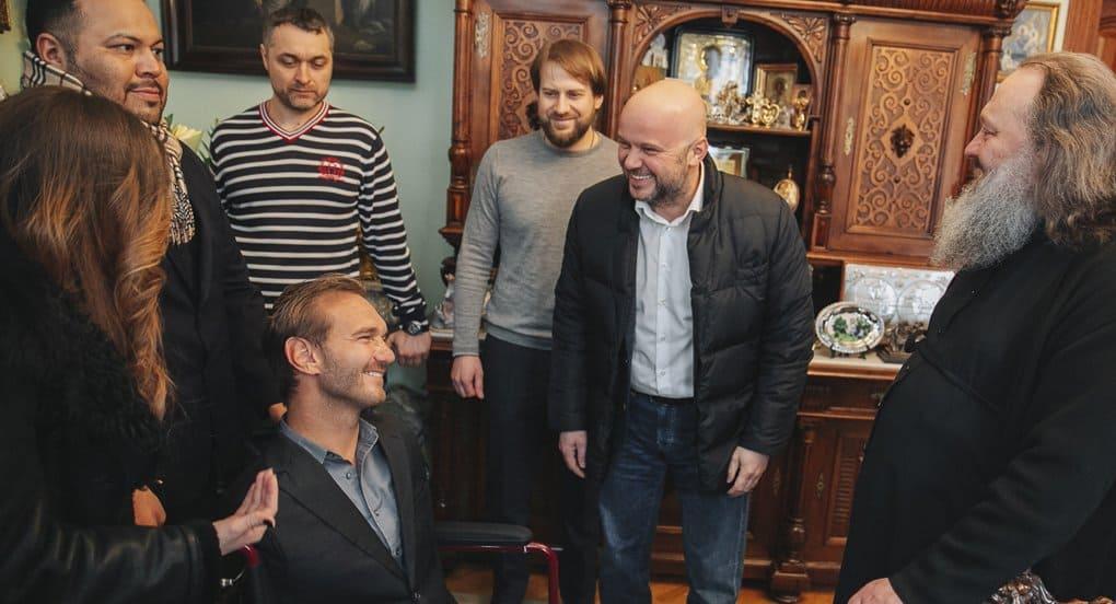 Ник Вуйчич посетил Киево-Печерскую лавру