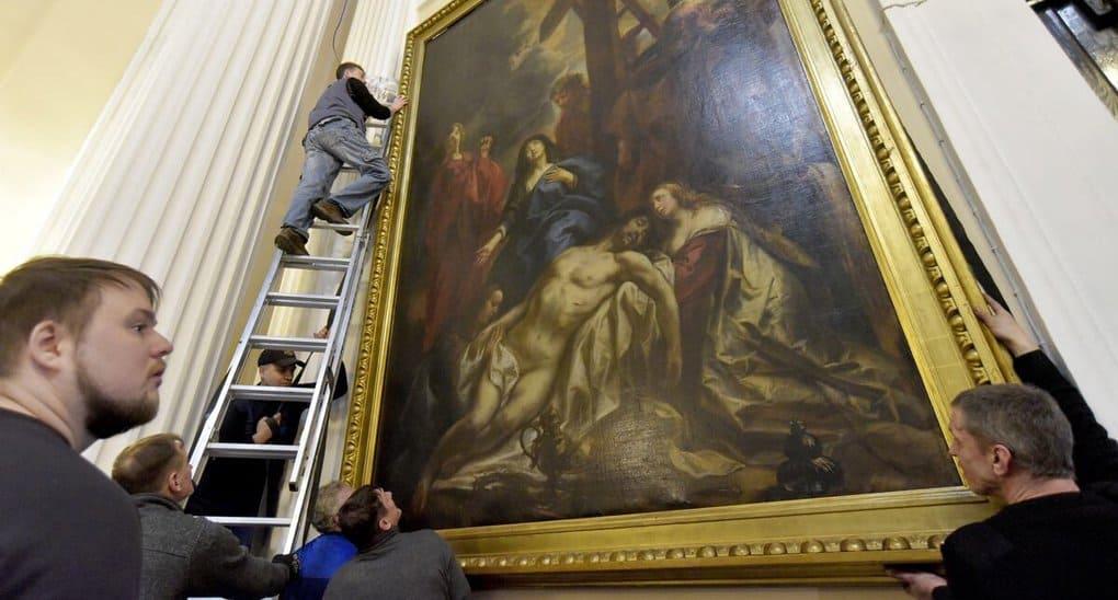 Александро-Невская лавра передала на выставку в Эрмитаж картину XVII века
