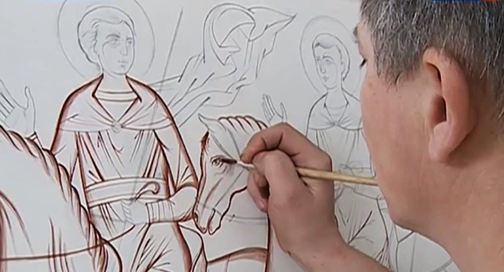 Курские иконописцы восстанавливают утраченную сирийскую икону XIII века