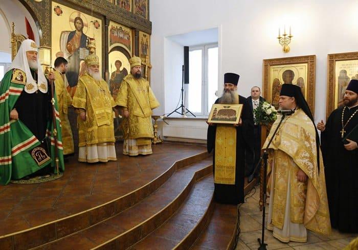 Патриарх Кирилл освятил восстановленный храм 40 Севастийских мучеников в Спасской Слободе