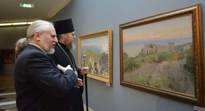 В храме Христа Спасителя можно бесплатно увидеть Афон на современных картинах