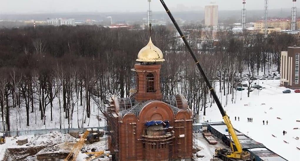 На главный храм Росгвардии установили купол