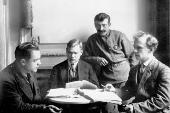 Члены трибунала на совещании по делу об изъятии церковных ценностей в здании филармонии