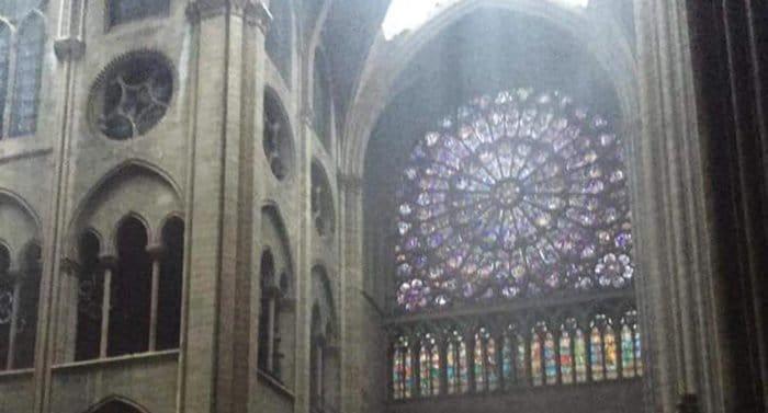 При пожаре в Нотр-Дам-де-Пари уцелели витражи в окнах-розах, орган поврежден водой
