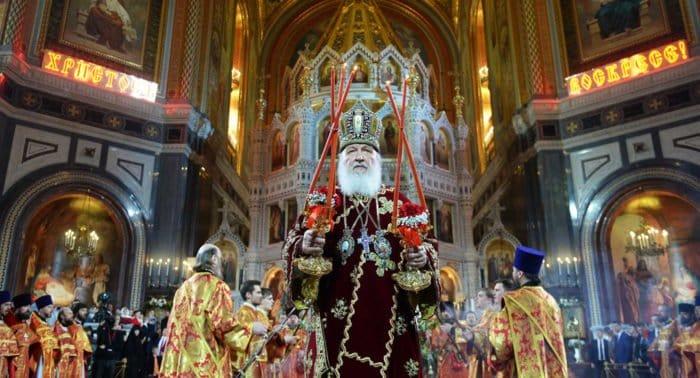 Пасхальную службу, которую возглавит патриарх Кирилл, покажут онлайн