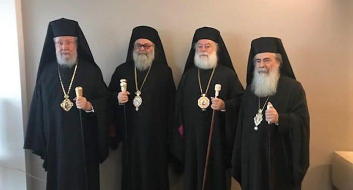Главы четырех Поместных Церквей призвали защитить от захватов храмы на Украине