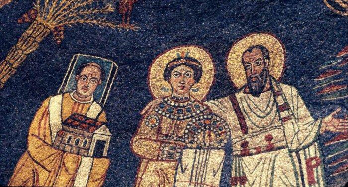 Почему у некоторых святых на иконах квадратные нимбы?