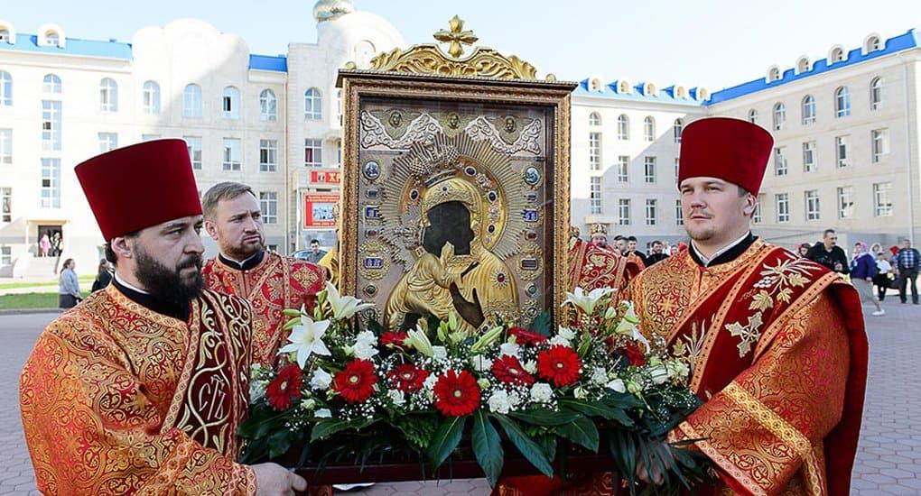 В Казахстане до 22 мая пребывает Феодоровская икона Божией Матери