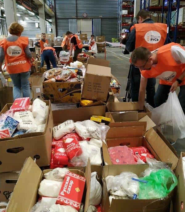 20 тонн продуктов собрали в Москве для одиноких пожилых селян