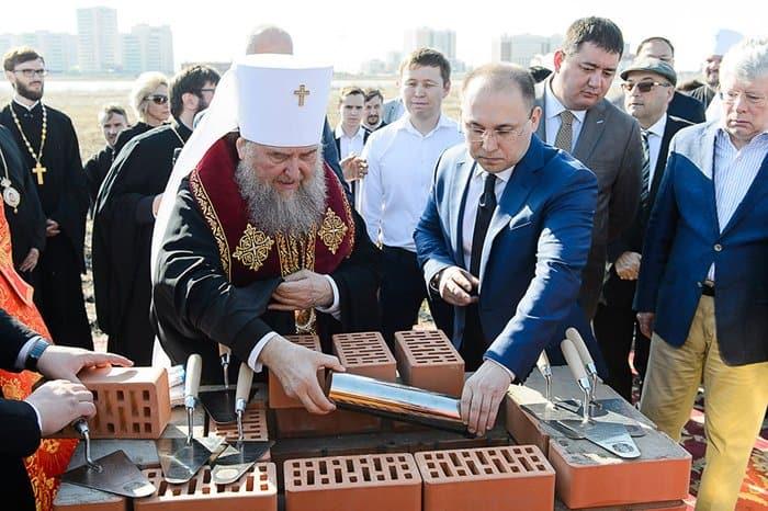 В Нур-Султане заложили храм в честь всех святых Казахстана