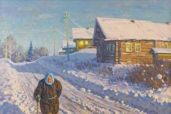 Бабушка из деревни Погорелово 100х70см. 2013г.