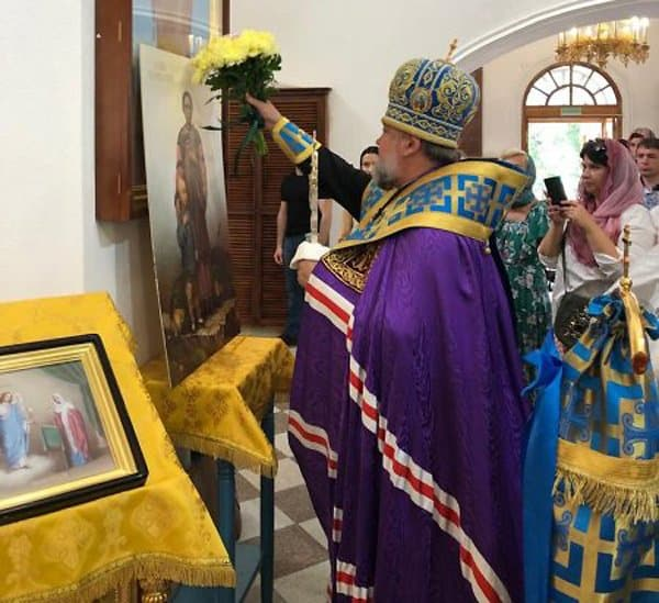 «За Христа страдать не больно»: В Благовещенске освятили иконы китайских святых, убитых «боксерами»