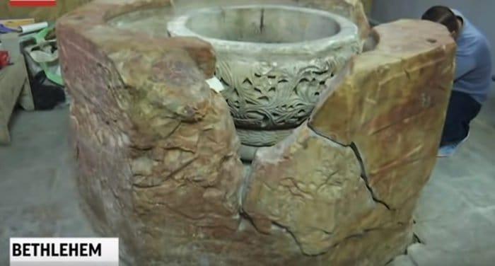В вифлеемском храме Рождества Христова нашли купель, которой 1500 лет