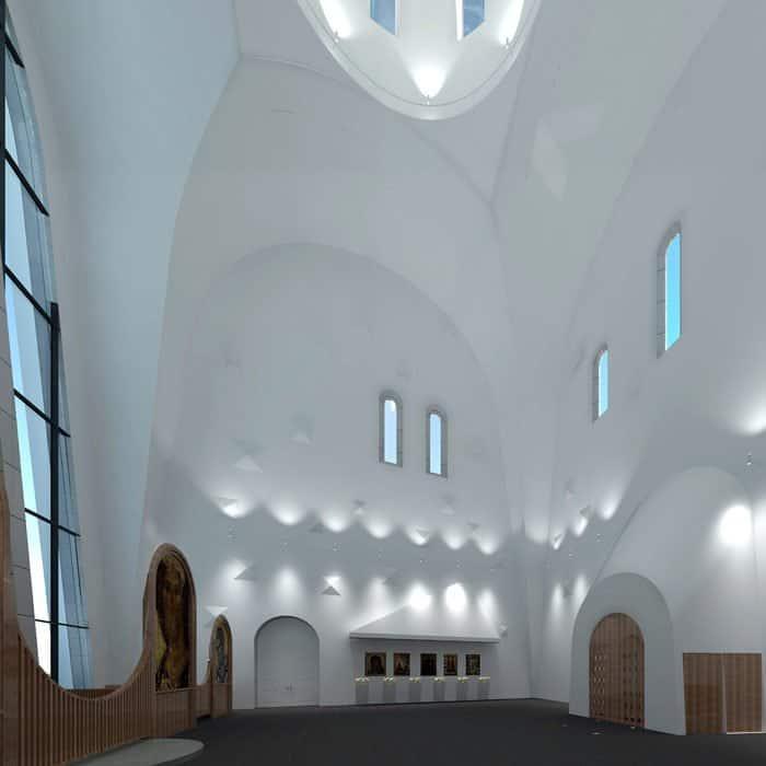 В Москве построят храм со стеклянной стеной, через которую будет видна Сетунь