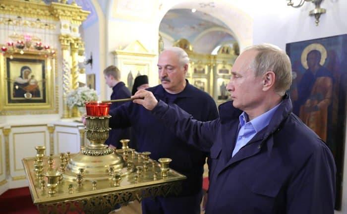 Владимир Путин и Александр Лукашенко помолились на Валааме