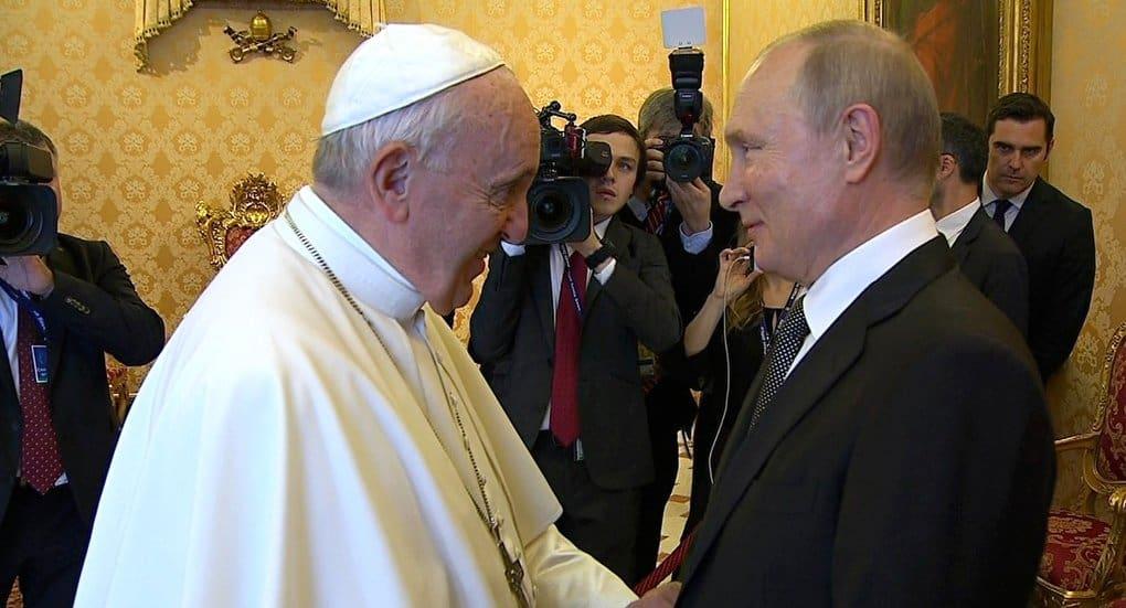 Владимир Легойда назвал «важной и полезной» встречу Владимира Путина с Папой Римским Франциском