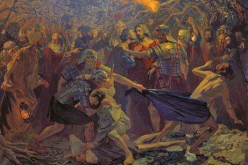 _Взятие Христа под стражу_ 300x210см. 2003г.