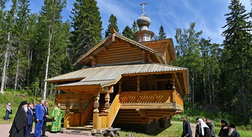 Патриарх Кирилл освятил на Валааме храм в честь святого Серафима Саровского