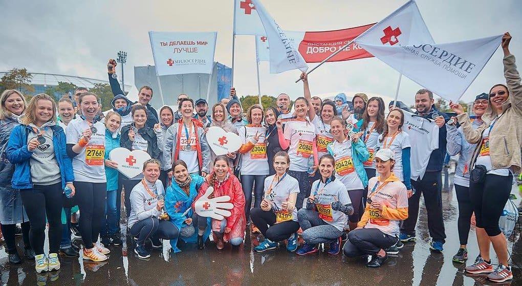 На Московском марафоне команда «Милосердия» побежит ради помощи своим подопечным