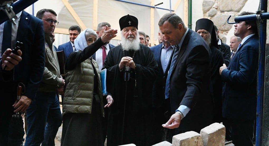 Патриарх Кирилл высоко оценил реставрацию в Соловецком монастыре